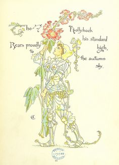 Using dried seed heads as natural Flower Fairy wands, and exploring a precursor to the Flower Fairies: amazing illustrations by Walter Crane The Lady Of Shalott, Fairy Photography, Walter Crane, English Artists, Hollyhock, Flower Fairies, Japanese Prints, Antique Prints, Find Art