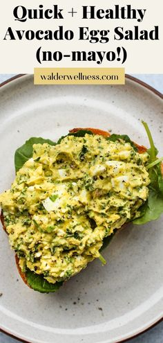 Using avocado as a substitute for mayonnaise, this no-mayo healthy boiled-egg salad sandwich recipe is packed with protein, healthy fats, and fibre for a filling, balanced meal. The base recipe is both gluten- and dairy-free.