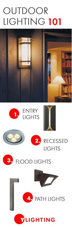 This outdoor lighting guide lays everything out for you. From planning your outdoor lighting scheme, to  the different types of lights needed for exteriors, you'll become an expert for all things landscape and exterior lighting.  #lighting #outdoorlighting #curbappeal #outdoorlights #landscapelights #entrylights #pathlights #exteriorlighting #lightingideas #homeideas