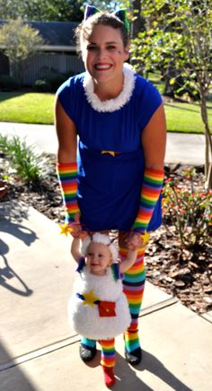 halloween costume: rainbow brite and twink