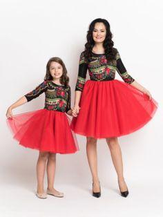 Seturi mama-fiica - Hira Design - Handmade Romania Satin, Romania, Skirts, Handmade, Vintage, Design, Fashion, Bead, Moda