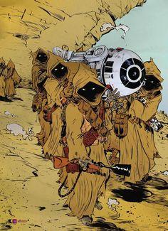 Geek Art: Star Wars - Jawas - News - GeekTyrant a-galaxy-far-far-away