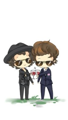 Larry Stylinson Chibi Fanart || ♡ this is so cute wtf ♡