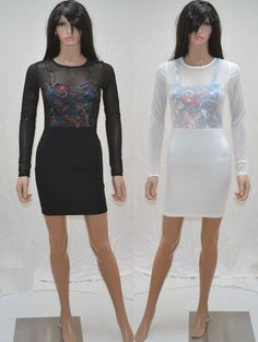 Gorgeous Tattoo print Graffiti Print dresses only £15.99 fitted bodycons!