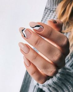 15 Winter Nail Art Designs That Are Not Sticky -.- 15 Winter Nail Art Designs That Are Not Sticky – Anna Elizabeth, - Pink Nails, My Nails, Nail Art Designs, Neutral Nail Designs, Nails Design, Subtle Nail Art, Nagellack Trends, Modern Nails, Minimalist Nails