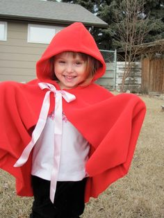 Red Riding hood cape pattern strikes again!