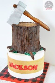 lumberjack wood cake
