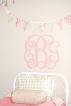 monogram for a girls room