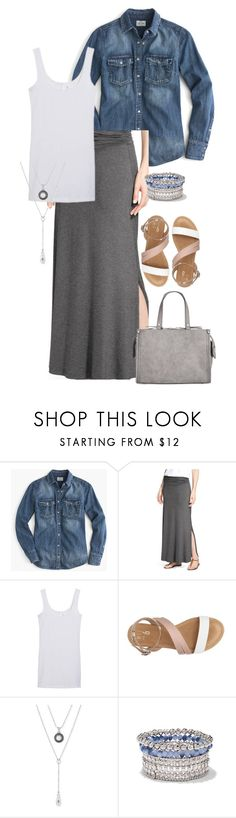 """""""Amber L."""" by mloveless-1 ❤ liked on Polyvore featuring J.Crew, Bobeau, Lucky Brand, New York & Company and INC International Concepts"""