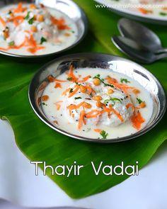 Thayir vadai recipe - South Indian Curd Vada