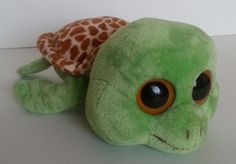 "Ty Beanie Boos Sea Turtle Plush Sandy Medium w/ Flippers 10.5"" RETIRED #Ty"
