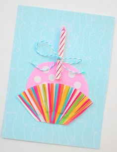 easy and cute handmade birthday card
