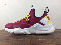 2143ece382ea Buy Free To Combine Nike Huarache Six Generations Huarache 6 Generation Air  Huarache Drift Of Wine Red And White Removable Strap Design Top Deals from  ...