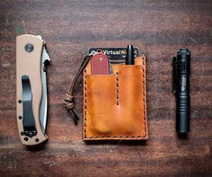 Hitch and Timber are rethinking how we carry the things we care about. The leather crafters from Baltimore, Maryland, make this beautifully handmade EDC Card Caddy, a simple yet effective way to ensure you are prepared for the day ahead. The wallet f