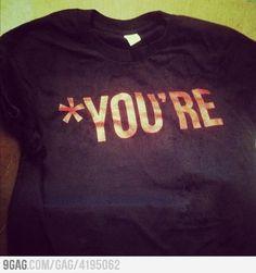 Grammar Nazi's Official Shirt!