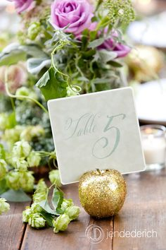 table numbers | photography by Jen Dederich Photography - used with permission  | © 2012 Sugar Pear Design LLC | www.sugarpeardesign.com