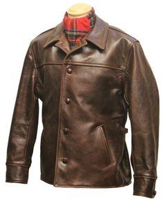 """Teamster"" Front Quarter Horsehide Jacket Aero Leathers Scotland."