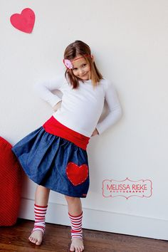 Buy 2 skirts get 1 FREE....The Valentines Day Denim Heart Skirt..... perfect for Valentines Day and beyond.