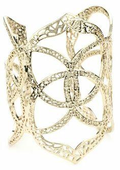 "Kendra Scott ""Mixed Metals"" 14k Gold-Plated Signature Medallion Roni Cuff Bracelet Kendra Scott. $150.00"