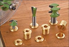 Festool Router, Lee Valley, Tool Rack, Router Bits, Wood Blocks, Diy Tools, Woodworking Tools, Diy Projects, Brass