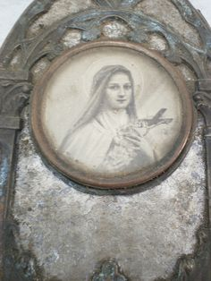 Metal Frame with Saint Therese