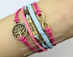 Wishing Tree Bracelet Love And Infinity Karma Bracelet Wish Bracelet Antique Bronze Bracelet Friendship Charm Bracelet-N1448