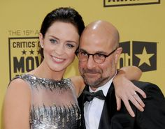They're actually related: Emily Blunt and Stanley Tucci are more than just costars...Emily and Stanley starred together in 2006's The Devil Wears Prada, and they're in-laws! Emily's sister married Tucci