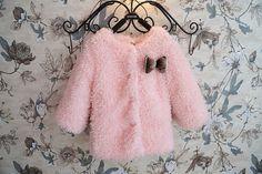 Girls Pink/Navy CoatUltra-soft Girls Wool by DLgirlsdress on Etsy