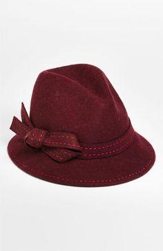 Nordstrom Pickstitch Bow Fedora Bordeaux Heather One Size Cowgirl Hats, Love Hat, Malu, Hair Accessory, Marsala, Headband Hairstyles, Pantone Color, Headgear, Elegant Woman