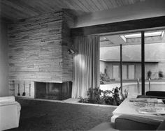 Here's a glimpse of Frank Sinatra's Twin Palms Estate. Built by California modernist E. Stewart Williams, the 4 bedroom, 4,500 square feet desert oasis was home to Sinatra from 1947-1954.Original Photos of Twin Palms Estate   Sinatrahouse.com