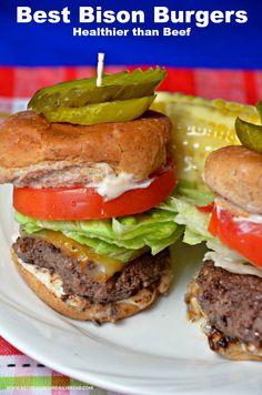 Healthy Juicy Bison Burgers