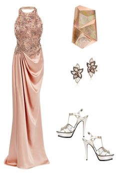"""""""Untitled #264"""" by aayushis on Polyvore featuring Yves Saint Laurent, Marchesa, Rafe and LE VIAN"""