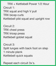 TRX + Kettlebell Power 1/2 Hour Total Body Workout