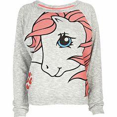 Grey My Little Pony print dolman top - pajamas / loungewear - loungewear / all in ones - women