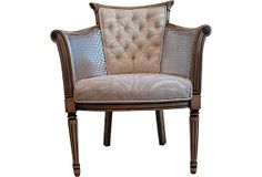 French Modern Rustic Chic Vintage Chair by OrangeNolive on Etsy, $575.00