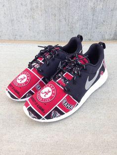 Custom Nike Roshe One Alabama Roll Tide by customsxcario on Etsy