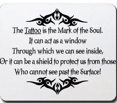 Nice quote about tattoos