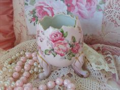 Pink Footed Porcelain Vase