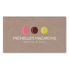 7 best bakery catering services baked goods business materials macaron cookie trio logo on kraft paper for bakery business card catering logocatering companiesmacaron reheart Image collections