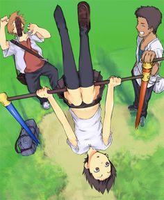 Kosuke Tsuda,Chiaki Mamiya,Makoto Konno - The Girl Who Leapt Through Time / Toki wo Kakeru Shoujo,Anime Film Anime, Manga Anime, Anime Art, Miyazaki, Japanese Animated Movies, Makoto, Wolf Children, Animation, Anime Shows
