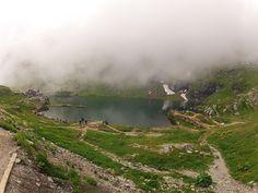 Foggy lake at Motoride Transylvania
