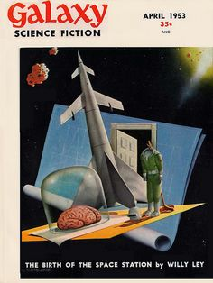scificovers: Galaxy Science Fiction vol 6 no 1 April 1953. Cover by Alex Schomburg.