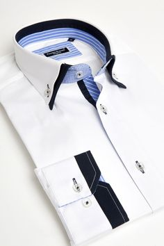 Franck Michel - White double collar shirt