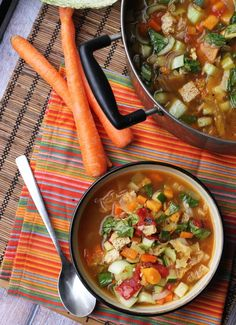 Wake up your taste buds with a kick of peppery flavor. This Nine Vegetable Hot and Sour Soup dinner recipe is great for warming you up on a cold winter evening.