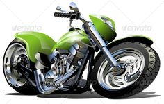 Vector Cartoon Motorcycle #GraphicRiver Vector Cartoon Motorcycle. Available hi-res JPG , AI-CS4, CDR -12 and EPS -10 vector formats separated by groups and layers with transparency effects for one-click repaint. More cartoon transportation see in my portfolio. Also you can check at my Collections: Vector Cartoon Cars Vector Cartoon Trucks Detailed Vector Cars modern and retro Detailed Vector Trucks Vans Tractors and Pickups Detailed Vector realistic and cartoon styled Buses Vector…