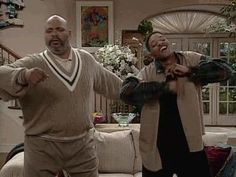"""The Top 10 Black TV Fathers of All Time James Avery and Will Smith in """"The Fresh Prince of Bel-Air."""""""