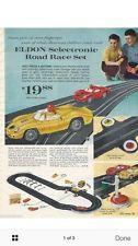 Eldon Marx Selectronic Slot Car Track