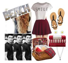 Beach Date With Shawn Mendes by sherry143 on Polyvore featuring polyvore, fashion, style, Pieces, Wet Seal, Alexia Crawford, Graham & Brown, Restoration Hardware, beach, date and shawnmendes