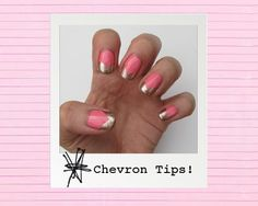 DIY Nail Art Guide: Chevron Tips! This week, we show you how to get perfectly pointed metallic chevron tips!