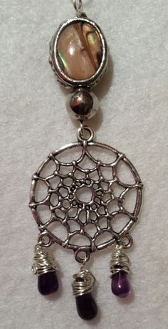 Handcrafted Dream Catcher Pendant by BeadedDelightsByStef on Etsy